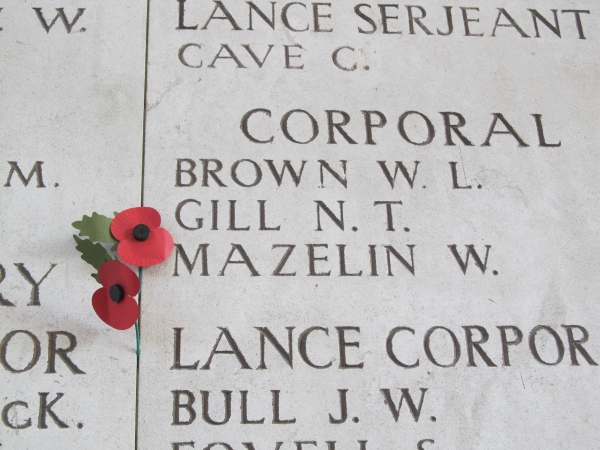 Names on the Menin Gate in Ypres, Flanders, Belgium 2 small