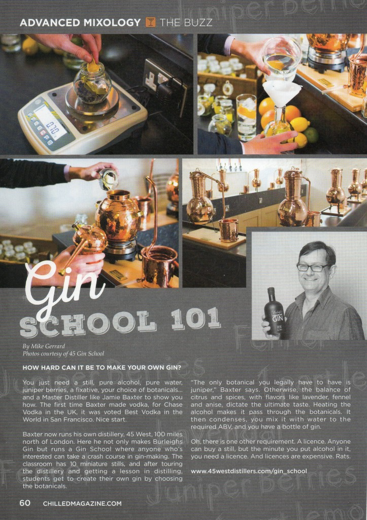 Gin School 101 by Mike Gerrard for Chilled Magazine