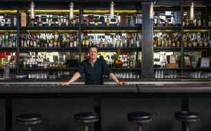 Ross Simon at the Bitter and Twisted cocktail bar in Phoenix, Arizona