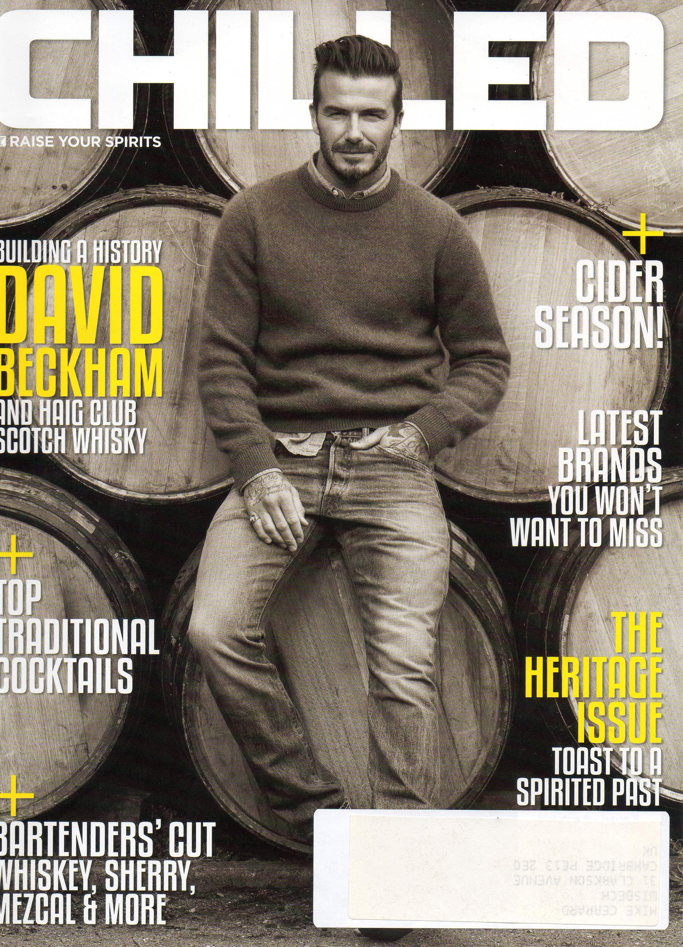 Chilled Volume 8 Issue 5 Heritage Issue David Beckham Cover jpeg