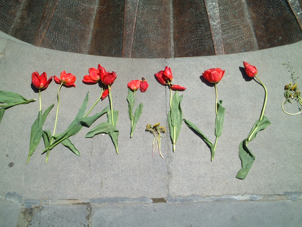 At the Armenian Genocide Memorial in Yerevan, Armenia
