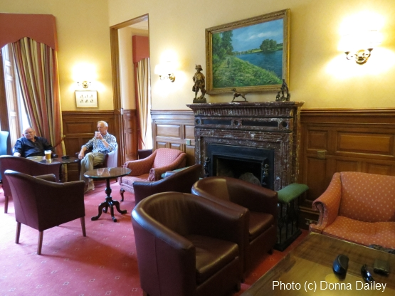 The bar at the Ballathie House country house hotel in Perthshire, Scotland