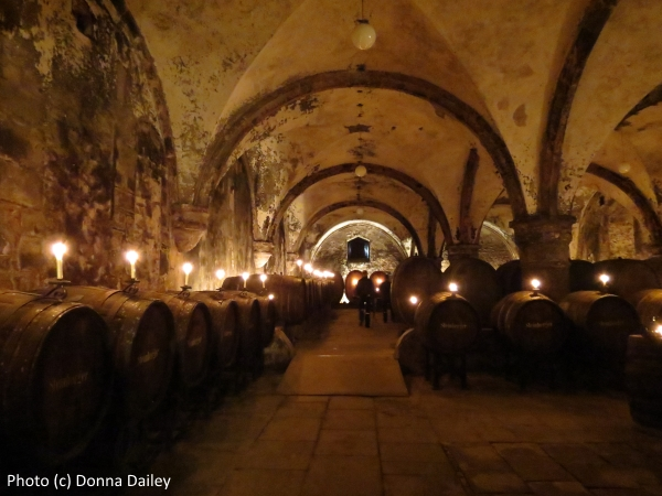 Wine cellar at the Eberbach Monastery in German