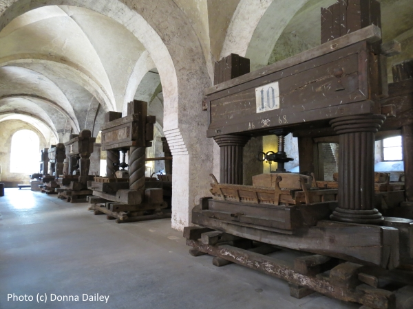 Wine Presses at The Eberbach Monastery in German