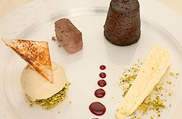 A Dessert at the Loch Melfort Hotel