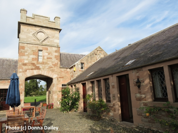 Cottage Courtyard at the Roxburghe Country House Hotel near Kelso in the Scottish Borders