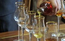 Cognac tasting glasses at the Chateau de Cognac owned by Baron Otard in Cognac, France