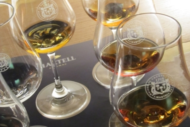 Cognac Tasting glasses at the Martell Distillery in Cognac, France