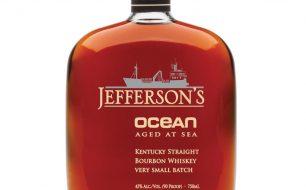 A bottle of Jefferson's Ocean Kentucky Bourbon