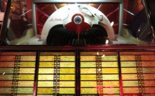 A jukebox in The Memphis Rock 'n' Soul Museum in Memphis, Tennessee